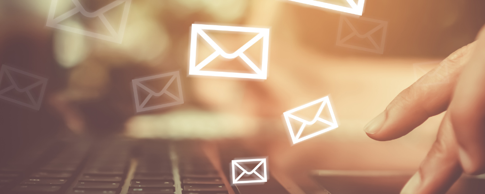 Photograph of email icons